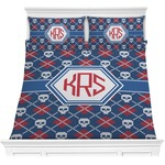 Knitted Argyle & Skulls Comforters (Personalized)