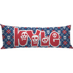 Knitted Argyle & Skulls Body Pillow Case (Personalized)