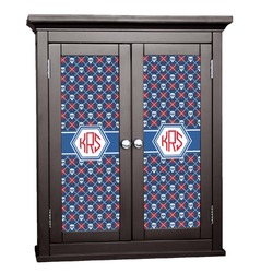 Knitted Argyle & Skulls Cabinet Decal - Custom Size (Personalized)