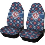 Knitted Argyle & Skulls Car Seat Covers (Set of Two) (Personalized)