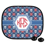 Knitted Argyle & Skulls Car Side Window Sun Shade (Personalized)