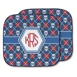 Knitted Argyle & Skulls Car Sun Shade - Two Piece (Personalized)