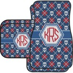 Knitted Argyle & Skulls Car Floor Mats (Personalized)