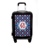 Knitted Argyle & Skulls Carry On Hard Shell Suitcase (Personalized)