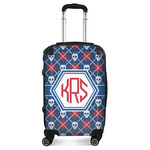 Knitted Argyle & Skulls Suitcase (Personalized)