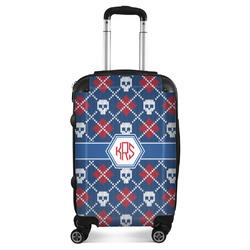 Knitted Argyle & Skulls Suitcase (Personalized)