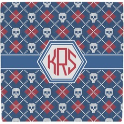 Knitted Argyle & Skulls Ceramic Tile Hot Pad (Personalized)