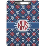 Knitted Argyle & Skulls Clipboard (Personalized)