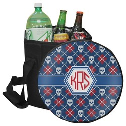Knitted Argyle & Skulls Collapsible Cooler & Seat (Personalized)