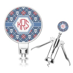 Knitted Argyle & Skulls Corkscrew (Personalized)