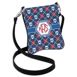 Knitted Argyle & Skulls Cross Body Bag - 2 Sizes (Personalized)