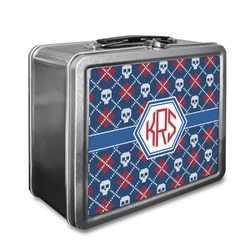 Knitted Argyle & Skulls Lunch Box (Personalized)