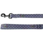 Knitted Argyle & Skulls Deluxe Dog Leash (Personalized)