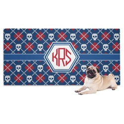 Knitted Argyle & Skulls Pet Towel (Personalized)