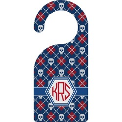 Knitted Argyle & Skulls Door Hanger (Personalized)