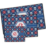 Knitted Argyle & Skulls Door Mat (Personalized)