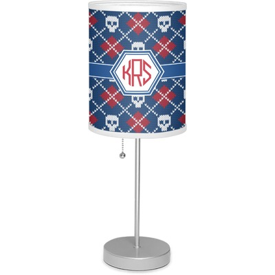 "Knitted Argyle & Skulls 7"" Drum Lamp with Shade (Personalized)"