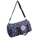 Knitted Argyle & Skulls Duffel Bag (Personalized)