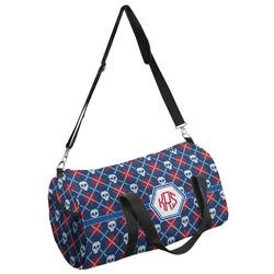 Knitted Argyle & Skulls Duffel Bag - Multiple Sizes (Personalized)