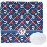 Knitted Argyle & Skulls Wash Cloth (Personalized)