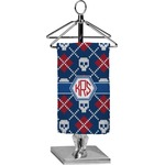Knitted Argyle & Skulls Finger Tip Towel - Full Print (Personalized)
