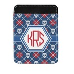 Knitted Argyle & Skulls Genuine Leather Money Clip (Personalized)