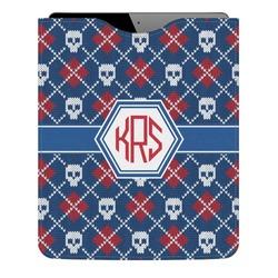 Knitted Argyle & Skulls Genuine Leather iPad Sleeve (Personalized)