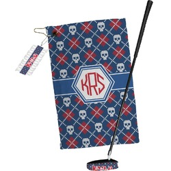 Knitted Argyle & Skulls Golf Towel Gift Set (Personalized)