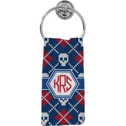 Knitted Argyle & Skulls Hand Towel - Full Print (Personalized)