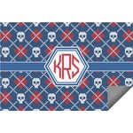 Knitted Argyle & Skulls Indoor / Outdoor Rug (Personalized)