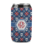 Knitted Argyle & Skulls Can Sleeve (12 oz) (Personalized)