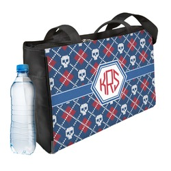 Knitted Argyle & Skulls Ladies Workout Bag (Personalized)