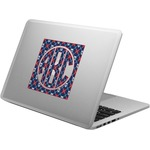 Knitted Argyle & Skulls Laptop Decal (Personalized)