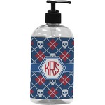 Knitted Argyle & Skulls Plastic Soap / Lotion Dispenser (Personalized)