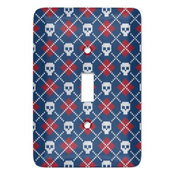 Knitted Argyle & Skulls Light Switch Covers (Personalized)