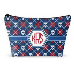 Knitted Argyle & Skulls Makeup Bags (Personalized)