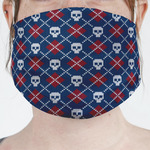 Knitted Argyle & Skulls Face Mask Cover (Personalized)