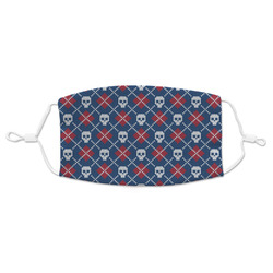 Knitted Argyle & Skulls Adult Cloth Face Mask (Personalized)