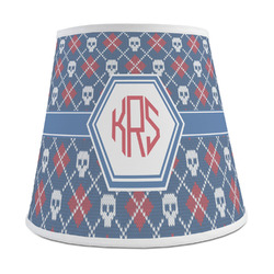 Knitted Argyle & Skulls Empire Lamp Shade (Personalized)