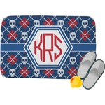 Knitted Argyle & Skulls Memory Foam Bath Mat (Personalized)