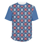 Knitted Argyle & Skulls Men's Crew T-Shirt (Personalized)