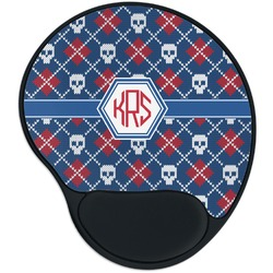 Knitted Argyle & Skulls Mouse Pad with Wrist Support