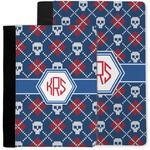 Knitted Argyle & Skulls Notebook Padfolio w/ Monogram