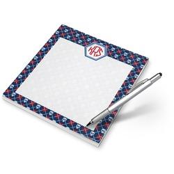 Knitted Argyle & Skulls Notepad (Personalized)