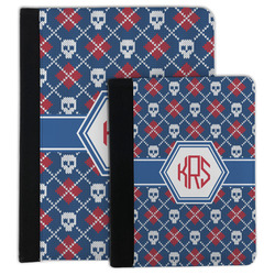 Knitted Argyle & Skulls Padfolio Clipboard (Personalized)