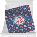 Knitted Argyle & Skulls Blanket (Personalized)