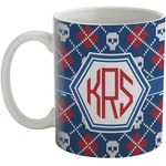 Knitted Argyle & Skulls Coffee Mug (Personalized)
