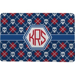Knitted Argyle & Skulls Comfort Mat (Personalized)