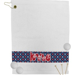 Knitted Argyle & Skulls Golf Bag Towel (Personalized)