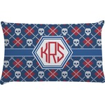 Knitted Argyle & Skulls Pillow Case (Personalized)
